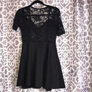 Black short dress size XL